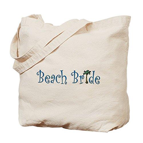 CafePress–Spiaggia sposa palmo–Borsa di tela naturale, panno borsa per la spesa