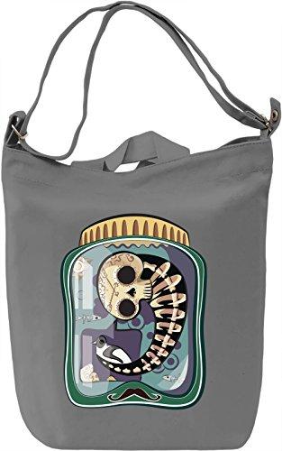 Skeleton in a jar Borsa Giornaliera Canvas Canvas Day Bag| 100% Premium Cotton Canvas| DTG Printing|