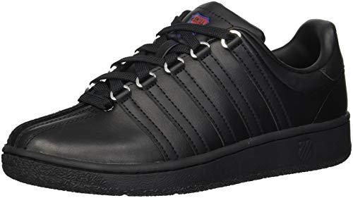 K-Swiss Women's VN Heritage Sneaker, black/classic blue/ribbon red, 8 M - Red Sneakers Women Stripes