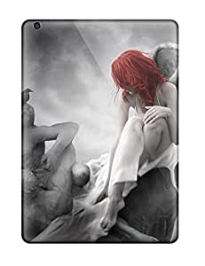 Best Defender Case With Nice Appearance (ange With Red Hair) For Ipad Air