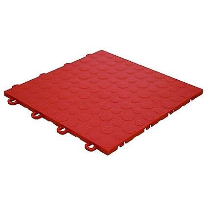 Modutile Garage Floor Tiles 30 Pack Coin Red Flooring Materials