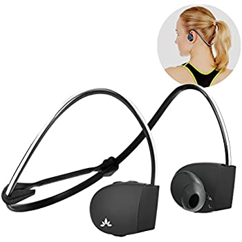 Avantree Sweatproof Bluetooth Sports Headphones with Mic, Wireless Earbuds for Running, No Hanging Wire, IPX4 Outer Ear Headset for Cycling Gym Workout, AS30
