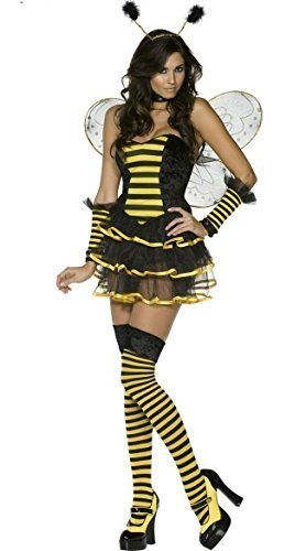 Ladies 6 Piece Sexy Bumble Bee Costume Size 10-12 Wings Dress Cuffs Headband u0026  sc 1 st  Amazon UK : ladies bee costume  - Germanpascual.Com