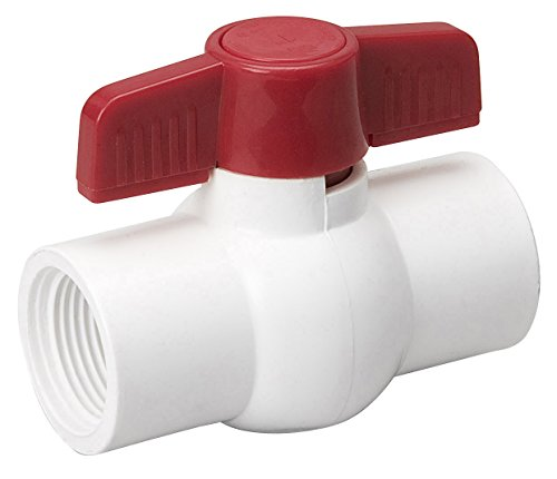 (NDS EBV-2000-T 2-Inch Threaded PVC Schedule 40 Economy Ball Valve, White)