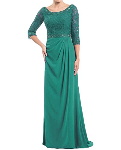 Dydsz Women's Long Mother of The Bride Dresses Evening Dress with Sleeves Chiffon D246 Jaden 14