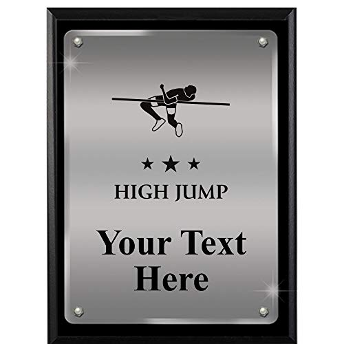 Award Plaque Field - High Jump Plaques with Custom Engraving, 7x9 Track and Field Floating Plaque Award, Great Personalized High Jump Awards