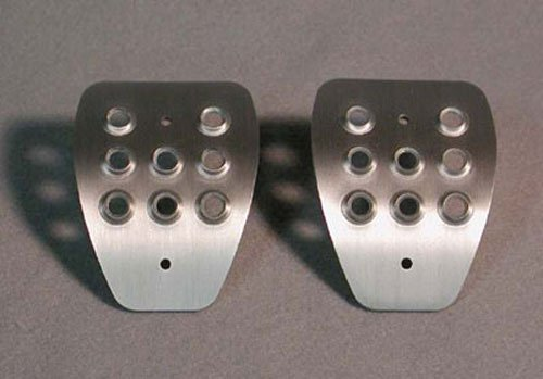 Rennline Fits 1965-1998 911/912/914/930/964/993 All Classic - Aluminum clutch/brake pedal-2 piece Brushed
