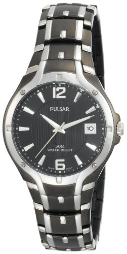 Pulsar Men's PXH521 Dress Sport Black Ion Plated Stainless Steel Watch