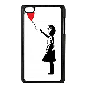High Quality Phone Back Case Pattern Design 7Tourist Banksy Design- FOR IPod Touch 4th