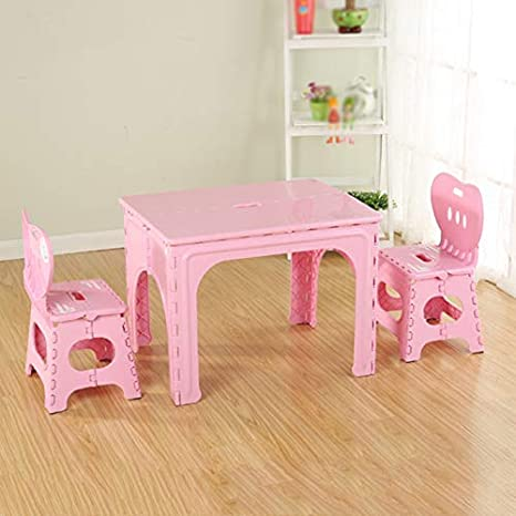 Amazon.com: Mesa y silla plegables para niños, escritorio de ...