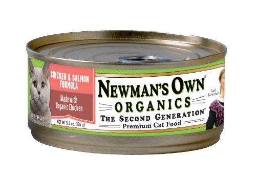 Newman's Own Organics Chicken and Salmon Formula for Cats, 5.5-Ounce Cans (Pack of 24), My Pet Supplies