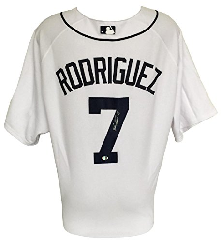 Ivan Rodriguez Signed Detroit Tigers Authentic Majestic Baseball Jersey SI COA ()