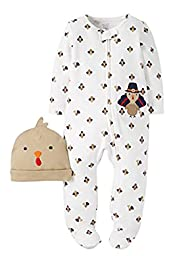 Just one you By Carter\'s Unisex Sleep-N-Play and Hat Set - Turkey (Newborn)