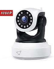 Victure Caméra IP HD, 1080P Caméra de Surveillance WiFi, Caméra Sécurité sans Fil avec Vision Nocturne Détection de Mouvement, Caméra Bébé avec Audio Bidirectionnel Pan/Tilt