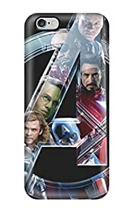 Iphone 6 Plus Hard Back With Bumper Silicone Gel Tpu Case Cover Avengers
