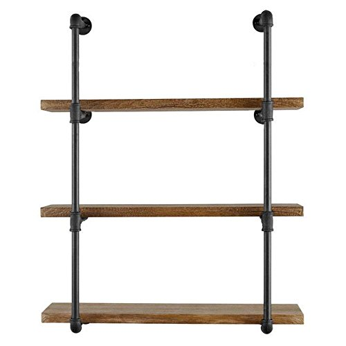 Diwhy Do It Yourself Industrial Black Pipe Bookshelf Wall