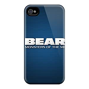 Best Hard Phone Cover For Iphone 4/4s With Support Your Personal Customized HD Chicago Bears Series LisaSwinburnson