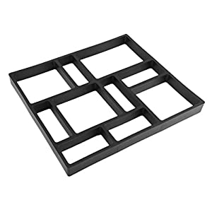 DIY Driveway Plastic Paving Pavement Stone Mold Concrete Stepping Pathmate Mould Paver Garden Decorated Tool TL