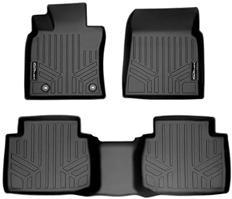SMARTLINER Custom Fit 2 Row Floor Mat Liner Set for 2018-2021 Toyota Camry (FWD Models Only) (No Hybrids)