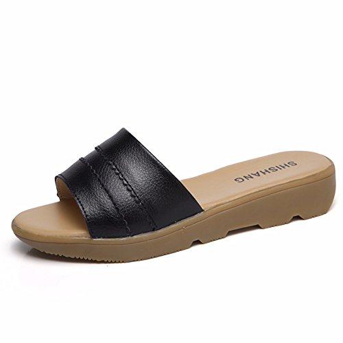 YUCH Sandales Femmes Chaussons black Et des pour 4ZqR4zx
