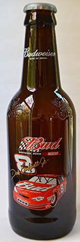 Dale Earnhardt Jr #8 Empty Large Amber Glass Bud Budweiser Anheuser Busch Decorative Bottle 15 Inches Tall 4 Inches wide For Man ()