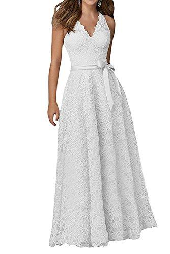 Cocktailkleider La Marie V Damen Festlichkleider Promkleider Abendkleider Neu Braut Ausschnitt Weiß Spitze BqBTf
