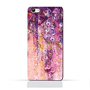 AMC Design Artistic Purple Flowers Printed Protective Case for Vivo V5 - Multi Color