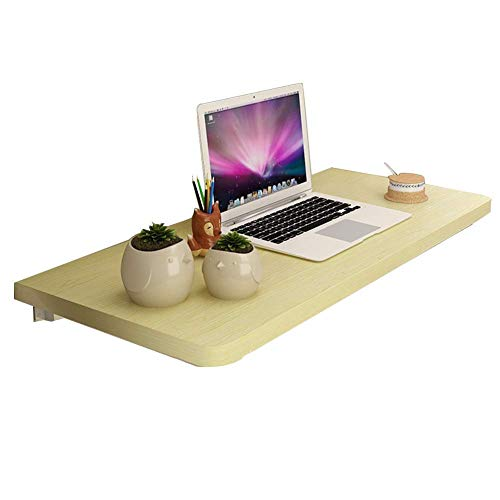 Z-D Simple and Practical Home Wall-Hung Storage Table/Desk,Laptop Stand Desk Living Room Shelf Dining Table Wood-Based Panel Multi-Color and Multi-Size, White Maple, 100X40Cm, White Maple, 50x30c