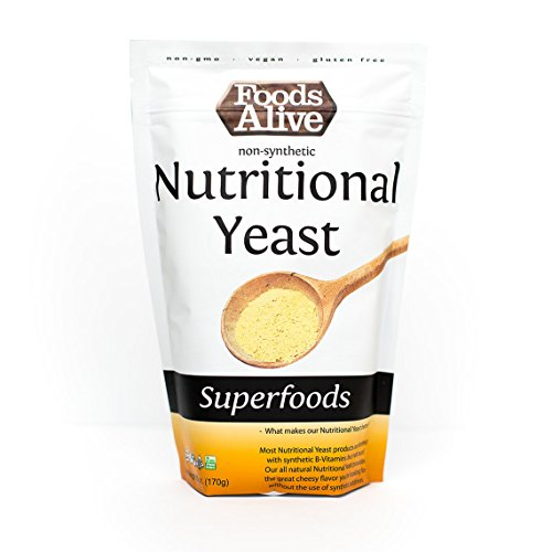 Foods Alive Nutritional Yeast Flakes, Vegetarian Support Formula, 6 Ounce ()