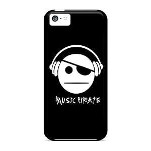 Excellent Design Music Pirate Phone Case For Iphone 5c Premium Tpu Case