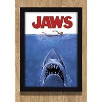 Quadro 70x50 Poster Tubarão Jaws Cinema Filme Decoração Quarto