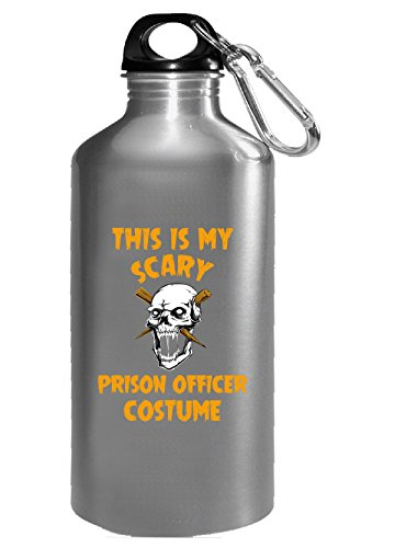 This Is My Scary Prison Officer Costume Halloween Gift - Water Bottle