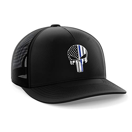 Tactical Pro Supply Punisher Blue Line American Flag Snapback Hat
