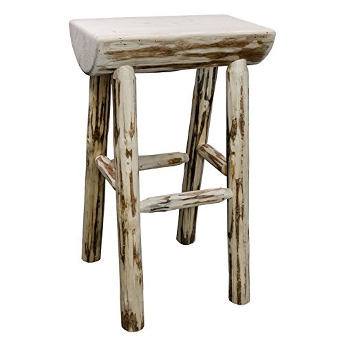 Montana Woodworks Montana Collection Half Log Barstool, Ready to Finish