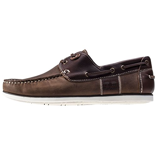 Barbour Brown Mens Leather Shoes Beige Moccasins Boat Leather Capstan Holiday Summer dPOzPq