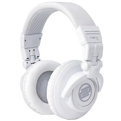 Reloop RHP-10 LTD Professional DJ Headphones with Rotating Ear Cups, Closed, White (RHP-10-LTD)