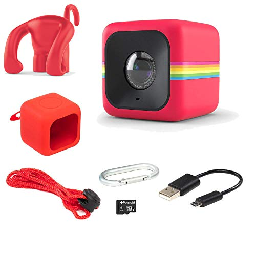 (Polaroid Cube Act II - HD 1080p Mountable Weather-Resistant Lifestyle Action Video Camera & 6MP Still Camera w/ Image Stabilization, Sound Recording, Low Light Capability & Other Updated Features)