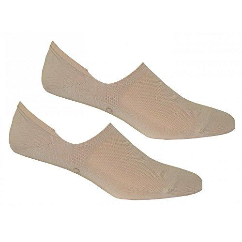 Calvin Klein 2-Pack No-Show Shoe-Liner Unisex Socks, Beige One Size by Calvin Klein