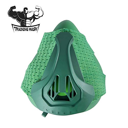 Nwhzl Training Mask 3.0 - High Altitude Elevation Simulation - for Gym, Cardio, Fitness, Running, Endurance and HIIT TrainingGreen