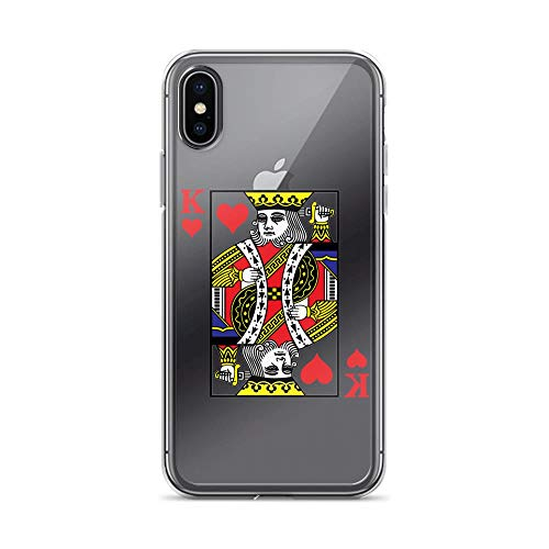 iPhone X/XS Pure Clear Case Cases Cover King of Hearts Playing Card Poker Card Costume]()