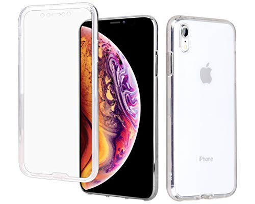 "Casetego Compatible iPhone XR Case,360 Full Body Two Piece Slim Crystal Transparent Case with Built-in Screen Protector for Apple iPhone XR 6.1"",Clear"
