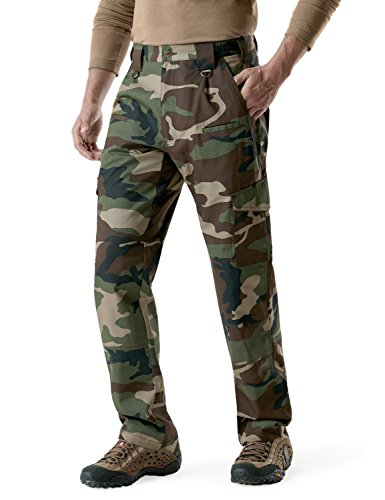 CQR CQ-TLP104-WOV_42W/32L Men's Tactical Pants Lightweight EDC Assault Cargo