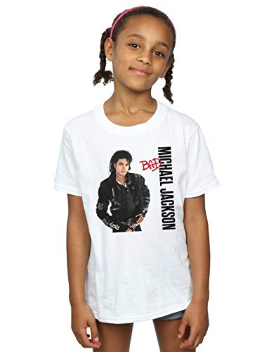 Michael Jackson Girls Bad Pose T-Shirt White 7-8 Years
