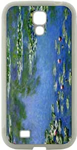 Rikki KnightTM Claude Monet Art Water Lilies Design Samsung\xae Galaxy S4 Case Cover (White Hard Rubber TPU with Bumper Protection) for Samsung Galaxy S4