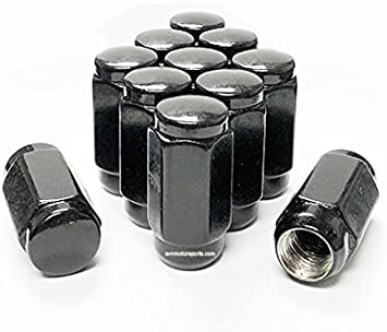 14x1.5 lug nut Set of 20 pc lugnuts for Chevy GM GMC Truck Black Acorn Bulge