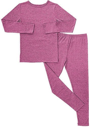 Price comparison product image 32 Degrees Heat Kids Long Sleeve Crew Neck and Legging Set, Heather Fiction Fig, XS