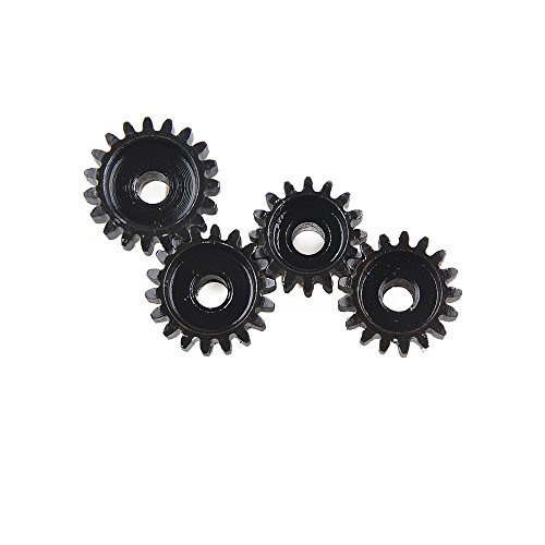 16T 17T 18T 19T (M1) 5mm Shaft Motor Gear Module Pinion Combo Hardening for Brushed Motor of 1:8 1:10 1/8 1/10 RC Monster Buggy Truck by RCRunning (17t Pinion)