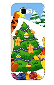 Pretty IQddicW4250JrUOK Galaxy Note 2 Case Cover/ New Year Christma Cartoon Film Bear Cub Tiger Winnie The Pooh Series High Quality Case