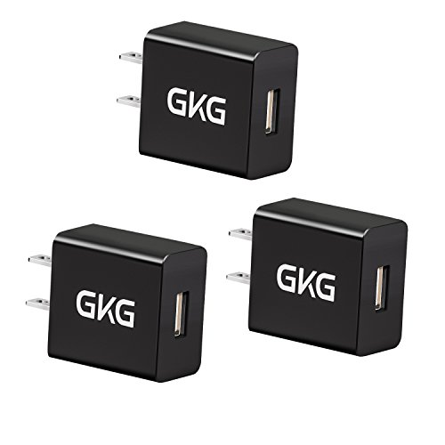 USB Wall Charger,GKG Power Charger Adapter,3 Packs 5V 2A International USB Charger Plug Adapter Compatible for iPhone X, iPad Air2,iPad Pro,Mini,iPod Touch,Nexus,LG,HTC, Nokia,One-Plus 2,One-Plus - Usb 2a 5v Charger
