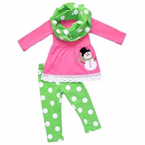 Girls Pink Snowman - 5